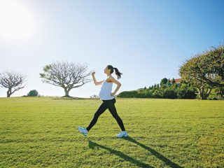 Pregnant mixed race woman exercising in field  Image downloaded by Sally Berman at 19:33 on the 30/03/15