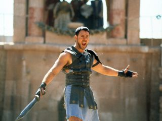 """Historian Mary Beard says real gladiator competitions were probably not as brutal as the film Gladiator (starring Russell Crowe) would have us believe. Still, she says, """"I loved Gladiator and I thought its depiction of gladiatorial combat, although it was an aggrandizing picture, was cleverly and expertly done"""