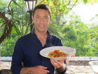 FROM ITV STUDIOS  GINO'S ITALIAN ESCAPE  Ep 5 Friday 11th October 2013 on ITV  Pictured: Gino D'Acampo cooks GragnanoÕs legendary pasta with salmon in a spicy arrabbiata sauce in a corner of a orchard  In episode five, Gino returns to his native Campania, the Italian region where he grew up and where his family still live.  As a chef, he is eager to visit the town of Gragnano, which is world-famous for its pasta.  Gino tours this unique place, where a combination of natural elements, sea breezes, hot sunshine and mountain water, have contributed to producing outstanding pasta.  Our chef visits one of the townÕs historic pasta factories, where local ladies teach him the traditional skill of hand-rolling long fusilli.   © ITV   For further information please contact Peter Gray  0207 157 3046 peter.gray@itv.com   This photograph is (C) ITV and can only be reproduced for editorial purposes directly in connection with the programme  ITV. Once made available by the ITV Picture Desk, this photograph can be reproduced once only up until the Transmission date and no reproduction fee will be charged. Any subsequent usage may incur a fee. This photograph must not be syndicated to any other publication or website, or permanently archived, without the express written permission of ITV Picture Desk. Full Terms and conditions are available on the website www.itvpictures.com