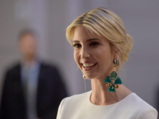 BERLIN, GERMANY - APRIL 25: Ivanka Trump, daughter of U.S. President Donald Trump, arrives at a Gala Dinner at Deutsche Bank within the framework of the W20 summit  on April 25, 2017 in Berlin, Germany.  Ivanka Trump attended the W20 conference on empowerment for women and is visiting the Siemens training center and the Holocaust Memorial before attending an evening gala sponsored by Deutsche Bank. (Photo by Clemens Bilan - Pool /Getty Images)