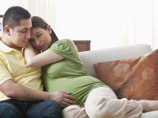 мъж, бременна жена, двойка