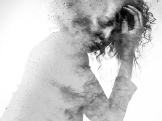 жена мъка скръб сянка тъга дим мисли