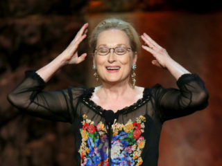 HOLLYWOOD, CA - JUNE 05:  Actress Meryl Streep speaks onstage at the 2014 AFI Life Achievement Award: A Tribute to Jane Fonda at the Dolby Theatre on June 5, 2014 in Hollywood, California. Tribute show airing Saturday, June 14, 2014 at 9pm ET/PT on TNT.  (Photo by Mark Davis/Getty Images for AFI)