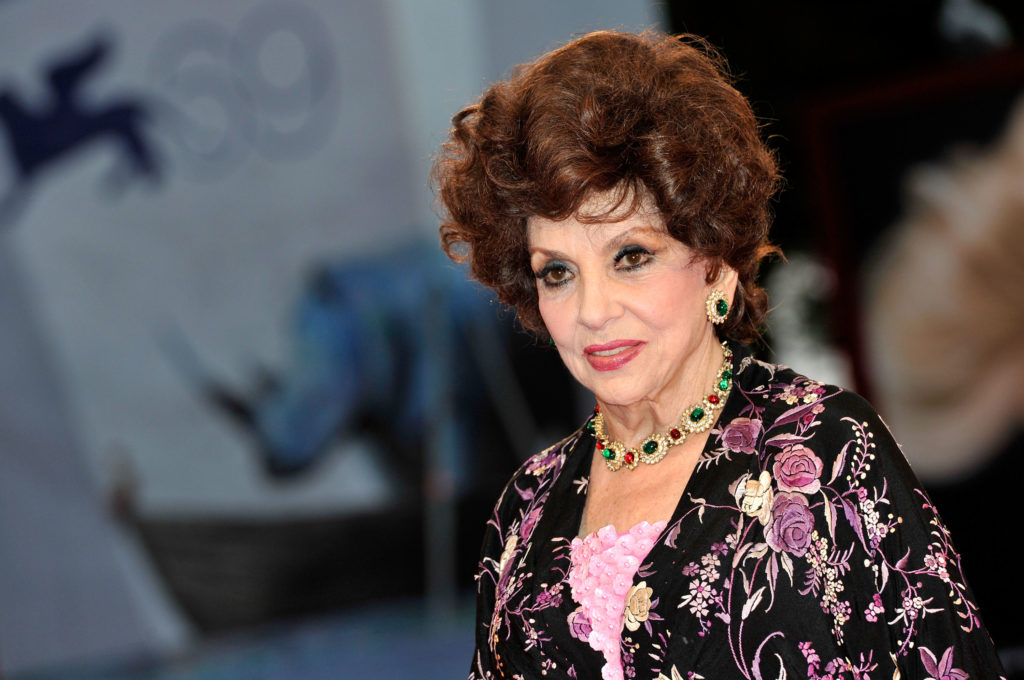 "VENICE, ITALY - SEPTEMBER 04:  Gina Lollobrigida attends the ""Lines Of Wellington"" Premiere during The 69th Venice Film Festival at the Palazzo del Cinema on September 4, 2012 in Venice, Italy.  (Photo by Gareth Cattermole/Getty Images)"