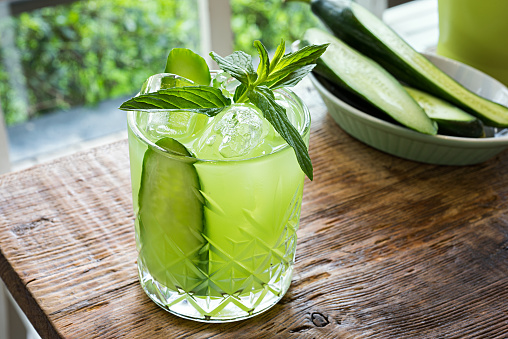 краставица напитка лимонада зеленчук лято коктейл