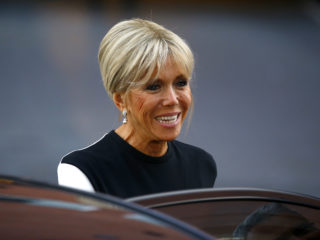 HAMBURG, GERMANY - JULY 07: Brigitte Macron, wife of French President Emmanuel Macron arrives to attend a concert at the Elbphilharmonie philharmonic concert hall on the first day of the G20 economic summit on July 7, 2017 in Hamburg, Germany. The G20 group of nations are meeting July 7-8 and major topics will include climate change and migration. (Photo by Morris MacMatzen/Getty Images)