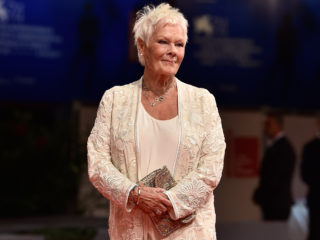 VENICE, ITALY - SEPTEMBER 03:  Judi Dench walks the red carpet ahead of the 'Victoria & Abdul' screening and Jaeger-LeCoultre Glory To The Filmaker Award 2017 during the 74th Venice Film Festival at Sala Grande on September 3, 2017 in Venice, Italy.  (Photo by Pascal Le Segretain/Getty Images)