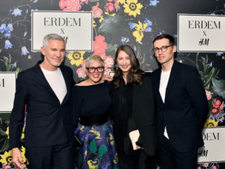 LOS ANGELES, CA - OCTOBER 18:  (L-R) Erdem Moralioglu, Catherine Martin, Ann-Sofie Johansson and Erdem Moralioglu at H&M x ERDEM Runway Show & Party at The Ebell Club of Los Angeles on October 18, 2017 in Los Angeles, California.  (Photo by Stefanie Keenan/Getty Images for H&M x ERDEM) *** Local Caption *** Erdem Moralioglu;Catherine Martin;Erdem Moralioglu;Ann-Sofie Johansson