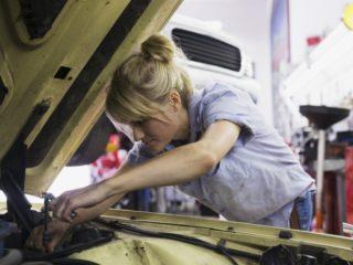 жена, кола, автомобил