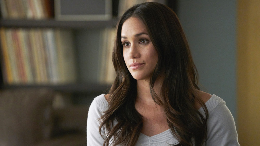 "SUITS -- ""Skin In the Game"" Episode 701 -- Pictured: Meghan Markle as Rachel Zane -- (Photo by: Ian Watson/USA Network)"