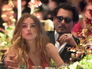 CULVER CITY, CA - JANUARY 09:  Actors Amber Heard and Johnny Depp attend The Art of Elysium 2016 HEAVEN Gala presented by Vivienne Westwood & Andreas Kronthaler at 3LABS on January 9, 2016 in Culver City, California.  (Photo by Jason Merritt/Getty Images for Art of Elysium)