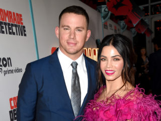 "LOS ANGELES, CA - AUGUST 03:  Actor Channing Tatum (L) and his wife Jenna Dewan Tatum arrive at the premiere of Amazon's ""Comrade Detective"" at the Arclight Theatre on August 3, 2017 in Los Angeles, California.  (Photo by Kevin Winter/Getty Images)"