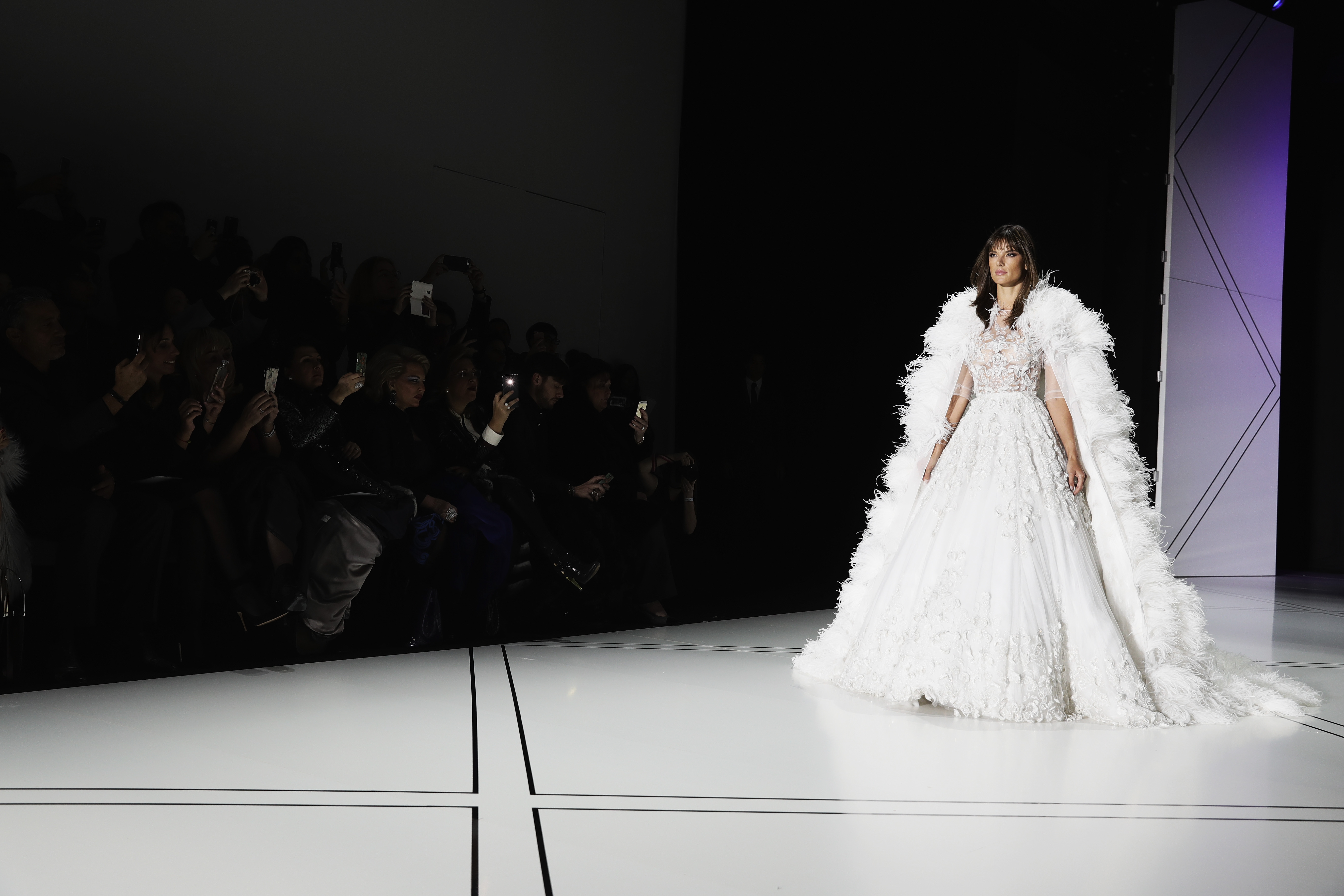 PARIS, FRANCE - JANUARY 23: (EDITORS NOTE: Image has been desaturated.) A model walks the ruway during the Ralph & Russo show on January 23, 2017 in Paris, France. (Photo by Vittorio Zunino Celotto/Getty Images)