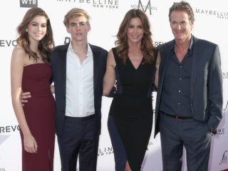 WEST HOLLYWOOD, CA - APRIL 02: (L-R) Actor Kaia Gerber, honoree Presley Gerber, Cindy Crawford and Rande Gerber attend the Daily Front Row's 3rd Annual Fashion Los Angeles Awards at Sunset Tower Hotel on April 2, 2017 in West Hollywood, California.  (Photo by Frederick M. Brown/Getty Images)