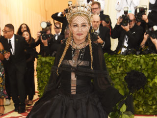 NEW YORK, NY - MAY 07:  Madonna attends the Heavenly Bodies: Fashion & The Catholic Imagination Costume Institute Gala at The Metropolitan Museum of Art on May 7, 2018 in New York City.  (Photo by Jamie McCarthy/Getty Images)