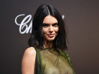 CANNES, FRANCE - MAY 11: (EDITORS NOTE: This image contain nudity) Kendall Jenner attends Chopard Secret Night during the 71st annual Cannes Film Festival at Chateau de la Croix des Gardes on May 11, 2018 in Cannes, France.  (Photo by Pascal Le Segretain/Getty Images for Chopard)