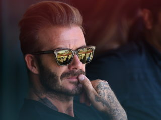 ANAHEIM, CA - AUGUST 21:  David Beckham attends the game between the Los Angeles Angels and the New York Yankees at Angel Stadium of Anaheim on August 21, 2016 in Anaheim, California.  (Photo by Jayne Kamin-Oncea/Getty Images)
