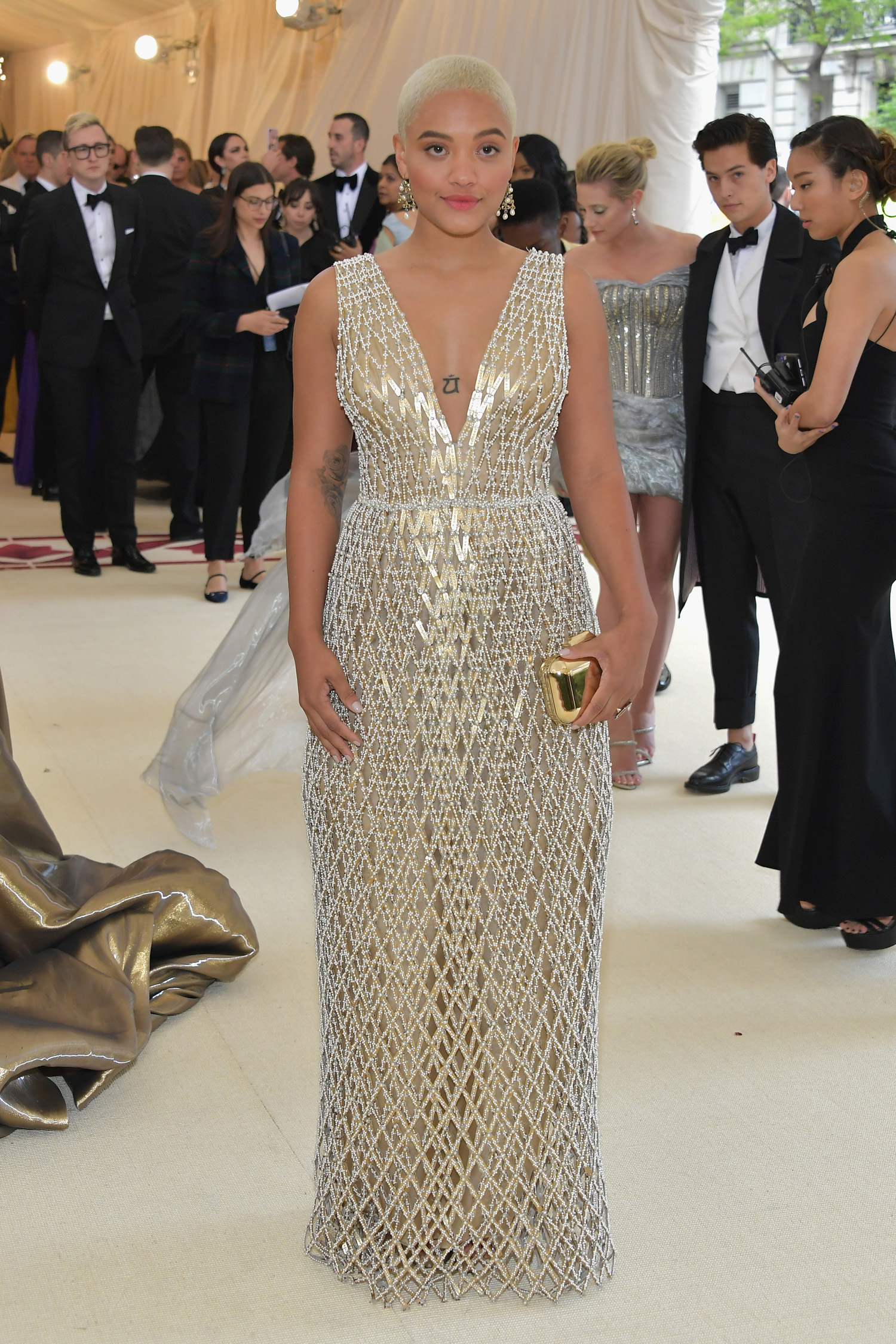 NEW YORK, NY - MAY 07:  Kiersey Clemons attends the Heavenly Bodies: Fashion & The Catholic Imagination Costume Institute Gala at The Metropolitan Museum of Art on May 7, 2018 in New York City.  (Photo by Neilson Barnard/Getty Images)