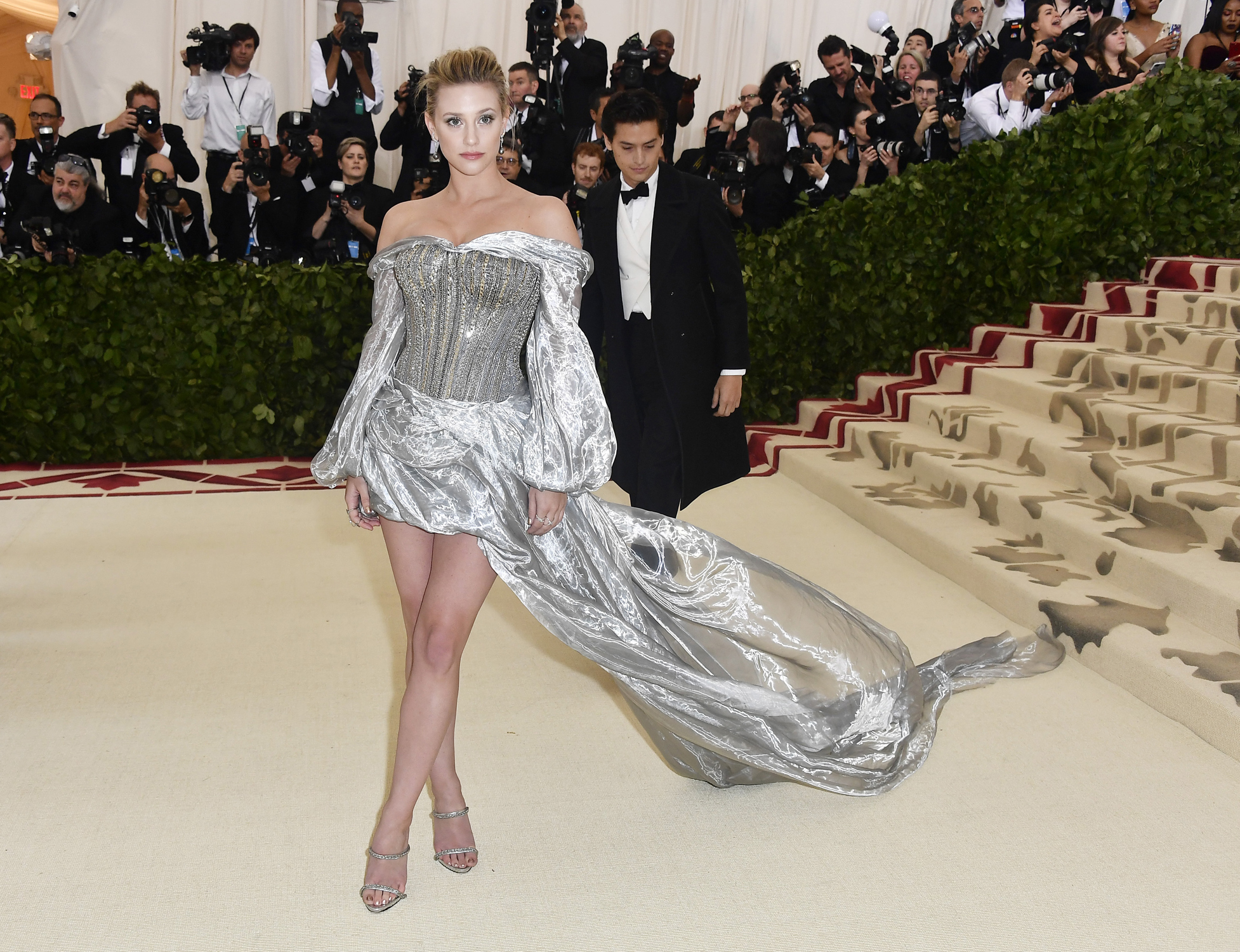 NEW YORK, NY - MAY 07:  Lili Reinhart attends the Heavenly Bodies: Fashion & The Catholic Imagination Costume Institute Gala at The Metropolitan Museum of Art on May 7, 2018 in New York City.  (Photo by Frazer Harrison/FilmMagic)