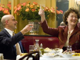 "Stanley Tucci as ""Paul Child"" and Meryl Streep as ""Julia Child"" in Columbia Pictures' Julie & Julia."