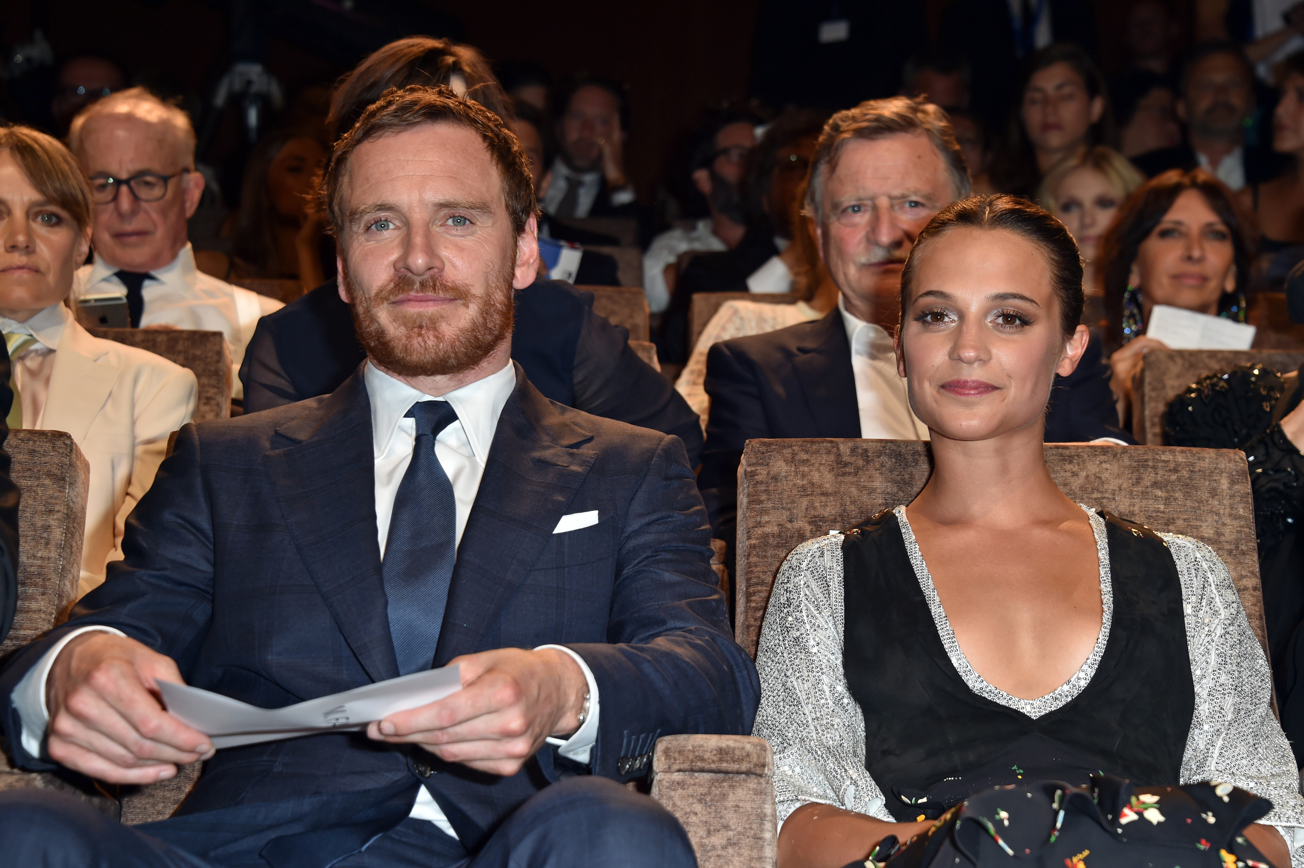 VENICE, ITALY - SEPTEMBER 01:  Actors Michael Fassbender and Alicia Vikander attend the premiere of 'The Light Between Oceans' during the 73rd Venice Film Festival at Sala Grande on September 2, 2016 in Venice, Italy.  (Photo by Pascal Le Segretain/Getty Images)