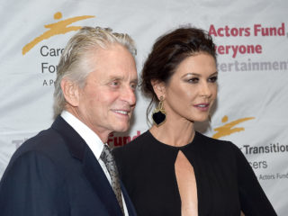 NEW YORK, NY - NOVEMBER 01:  Michael Douglas and Catherine Zeta-Jones attend The Actor's Fund Career Transition For Dancers 2017 Jubilee Gala at Marriott Marquis Hotel on November 1, 2017 in New York City.  (Photo by Jamie McCarthy/Getty Images)