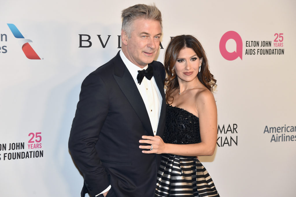 NEW YORK, NY - NOVEMBER 07:  Alec Baldwin and Hilaria Baldwin attend the Elton John AIDS Foundation Commemorates Its 25th Year And Honors Founder Sir Elton John During New York Fall Gala at Cathedral of St. John the Divine on November 7, 2017 in New York City.  (Photo by Theo Wargo/Getty Images)