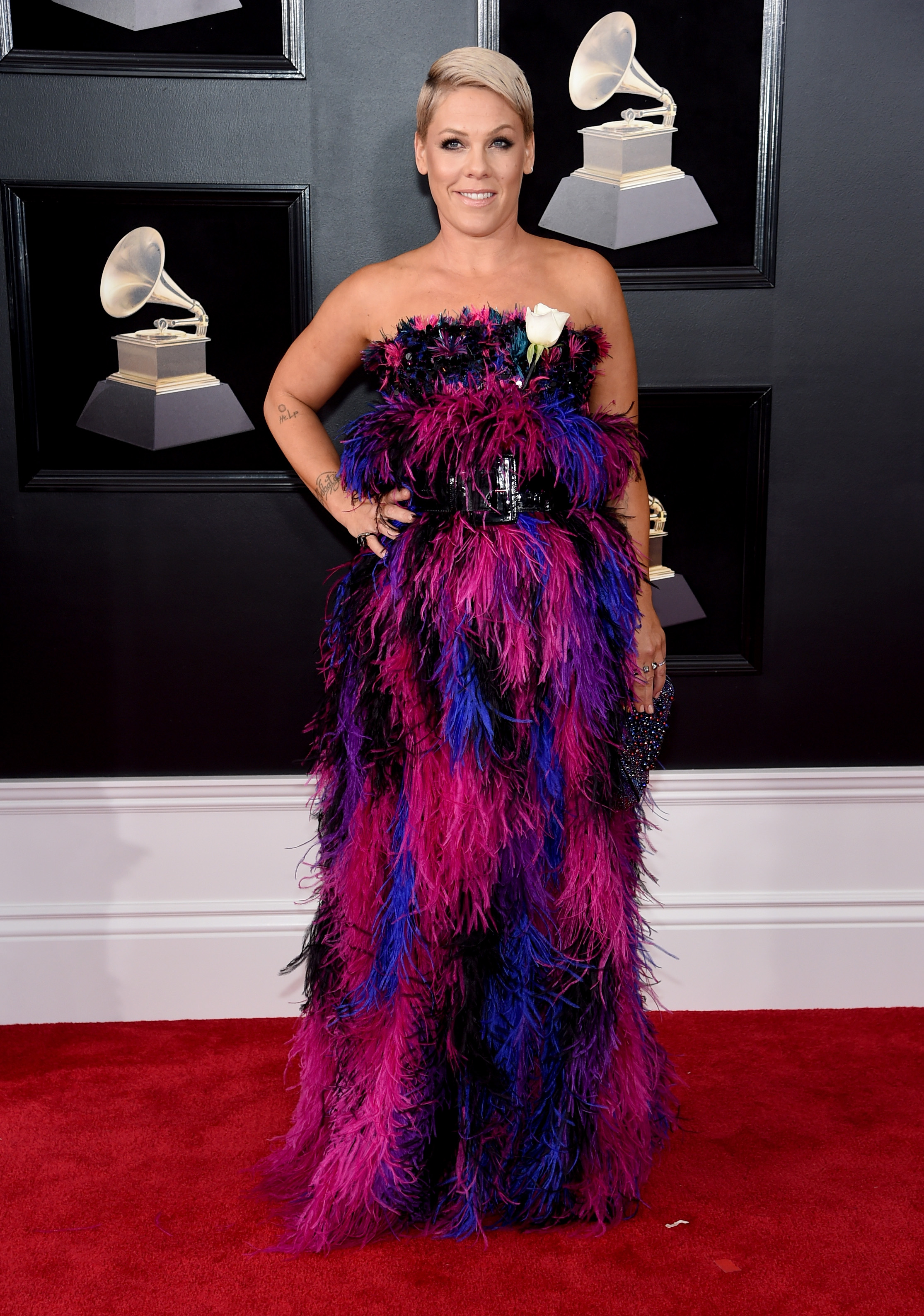 NEW YORK, NY - JANUARY 28:  Recording artist Pink attends the 60th Annual GRAMMY Awards at Madison Square Garden on January 28, 2018 in New York City.  (Photo by Jamie McCarthy/Getty Images)