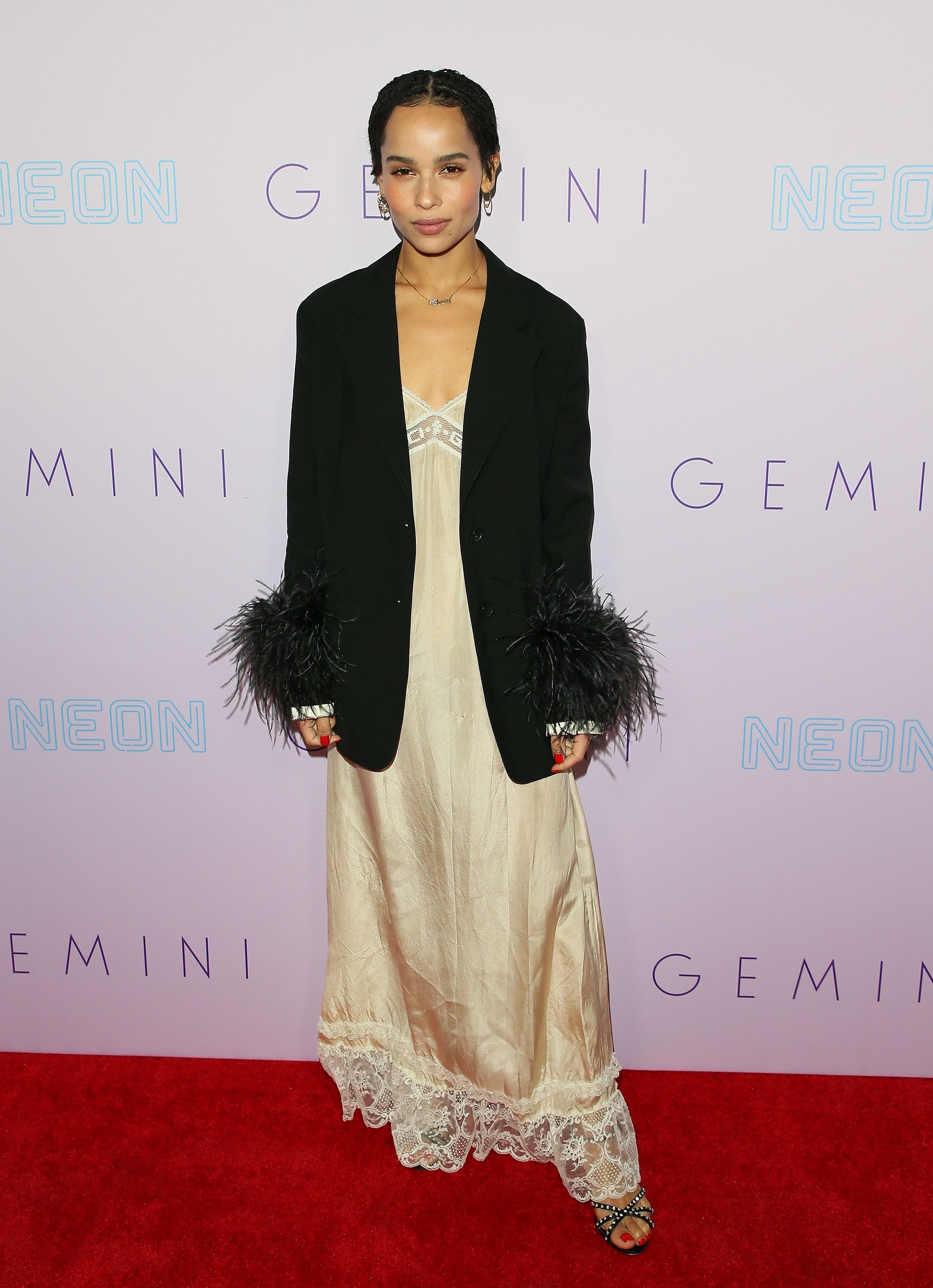 LOS ANGELES, CA - MARCH 15: Zoe Kravitz attends the Neon Los Angeles premiere of 'Gemini' on March 15, 2018 in Los Angeles, California. (Photo by JB Lacroix/ Getty Images)