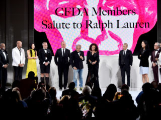 NEW YORK, NY - JUNE 04:  Designer Ralph Lauren accepts the 2018 CFDA Members Salute award onstage during the 2018 CFDA Fashion Awards at Brooklyn Museum on June 4, 2018 in New York City.  (Photo by Theo Wargo/Getty Images)