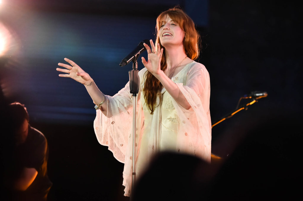 BROOKLYN, NY - JUNE 24:  Florence Welch of Florence + The Machine performs onstage during a Spotify Premium intimate event on June 24, 2018 in Brooklyn, New York.  (Photo by Theo Wargo/Getty Images for Spotify)