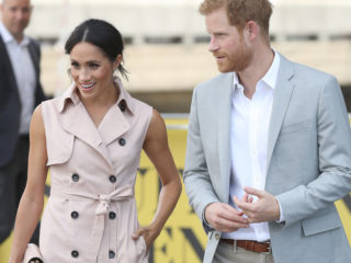 LONDON, ENGLAND - JULY 17:  Meghan, Duchess of Sussex and Prince Harry, Duke of Sussex visit the Nelson Mandela Centenary Exhibition at Southbank Centre's Queen Elizabeth Hall on July 17, 2018 in London, England. The exhibition explores the life and times of Nelson Mandela and marks the centenary of his birth.  (Photo by Chris Jackson/Getty Images)