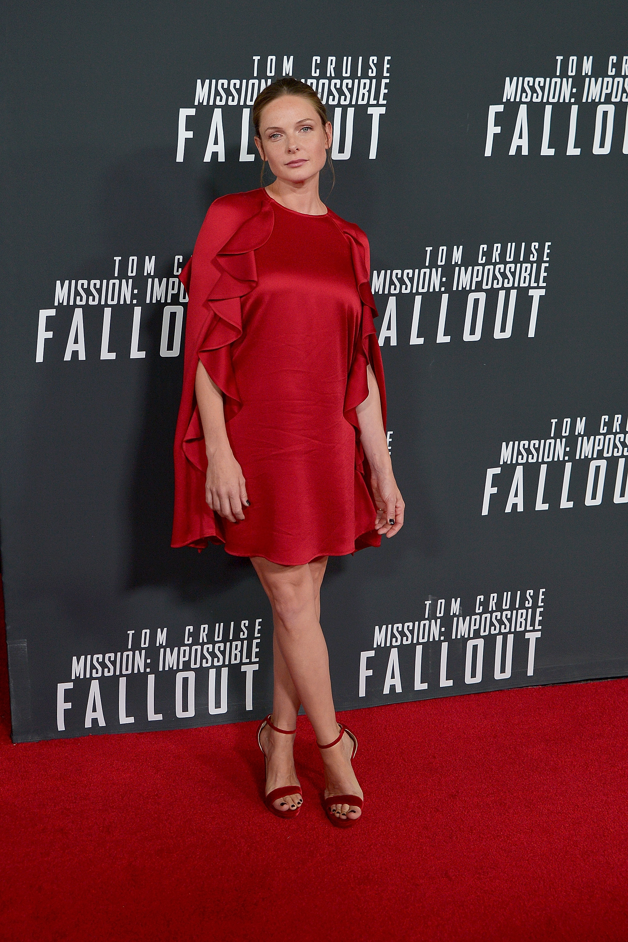 """WASHINGTON, DC - JULY 22: Rebecca Ferguson attends the U.S. Premiere of """"Mission: Impossible - Fallout"""" at Smithsonian's National Air and Space Museum on July 22, 2018 in Washington, DC. (Photo by Shannon Finney/Getty Images)"""