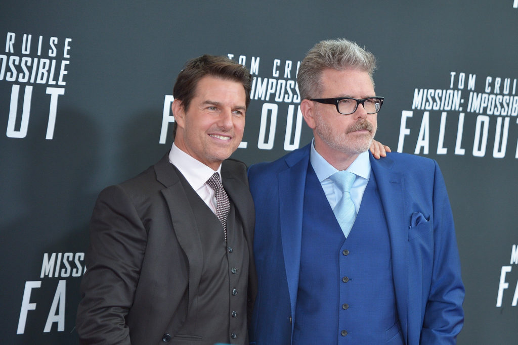 """WASHINGTON, DC - JULY 22:  Tom Cruise and director Christopher McQuarrie attend the U.S. Premiere of """"Mission: Impossible - Fallout"""" at Smithsonian's National Air and Space Museum on July 22, 2018 in Washington, DC.  (Photo by Shannon Finney/Getty Images)"""