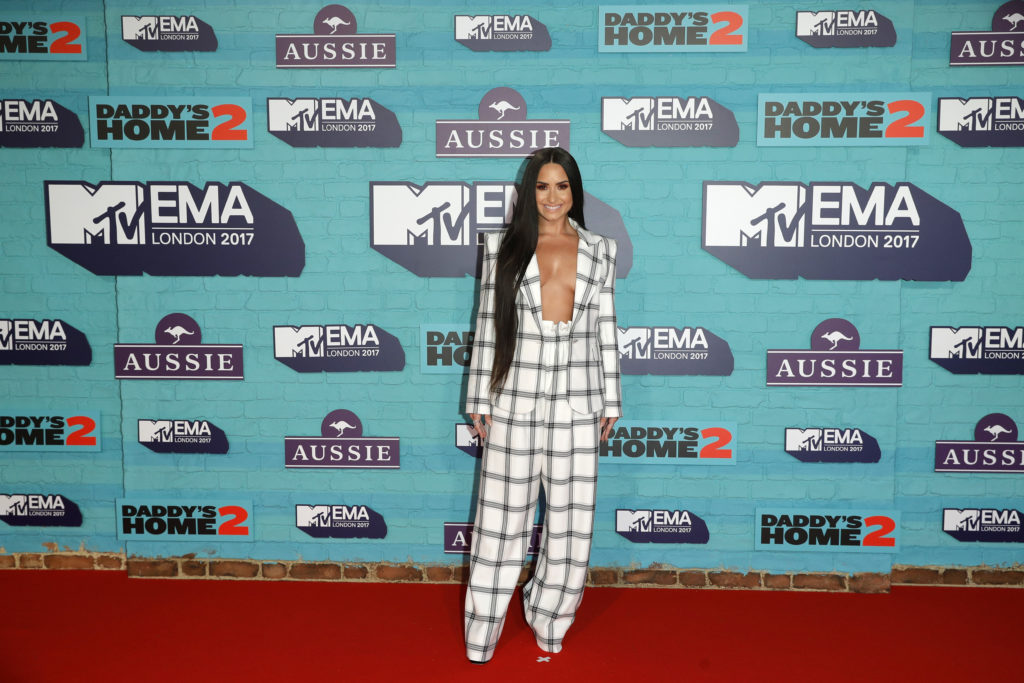 LONDON, ENGLAND - NOVEMBER 12:  Demi Lovato attends the MTV EMAs 2017 held at The SSE Arena, Wembley on November 12, 2017 in London, England.  (Photo by Andreas Rentz/Getty Images for MTV)