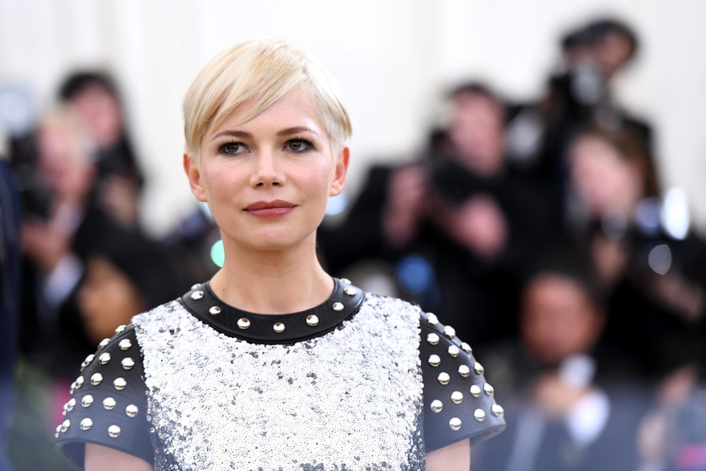 NEW YORK, NY - MAY 07:  Actor Michelle Williams attends the Heavenly Bodies: Fashion & The Catholic Imagination Costume Institute Gala at The Metropolitan Museum of Art on May 7, 2018 in New York City.  (Photo by Noam Galai/Getty Images for New York Magazine)
