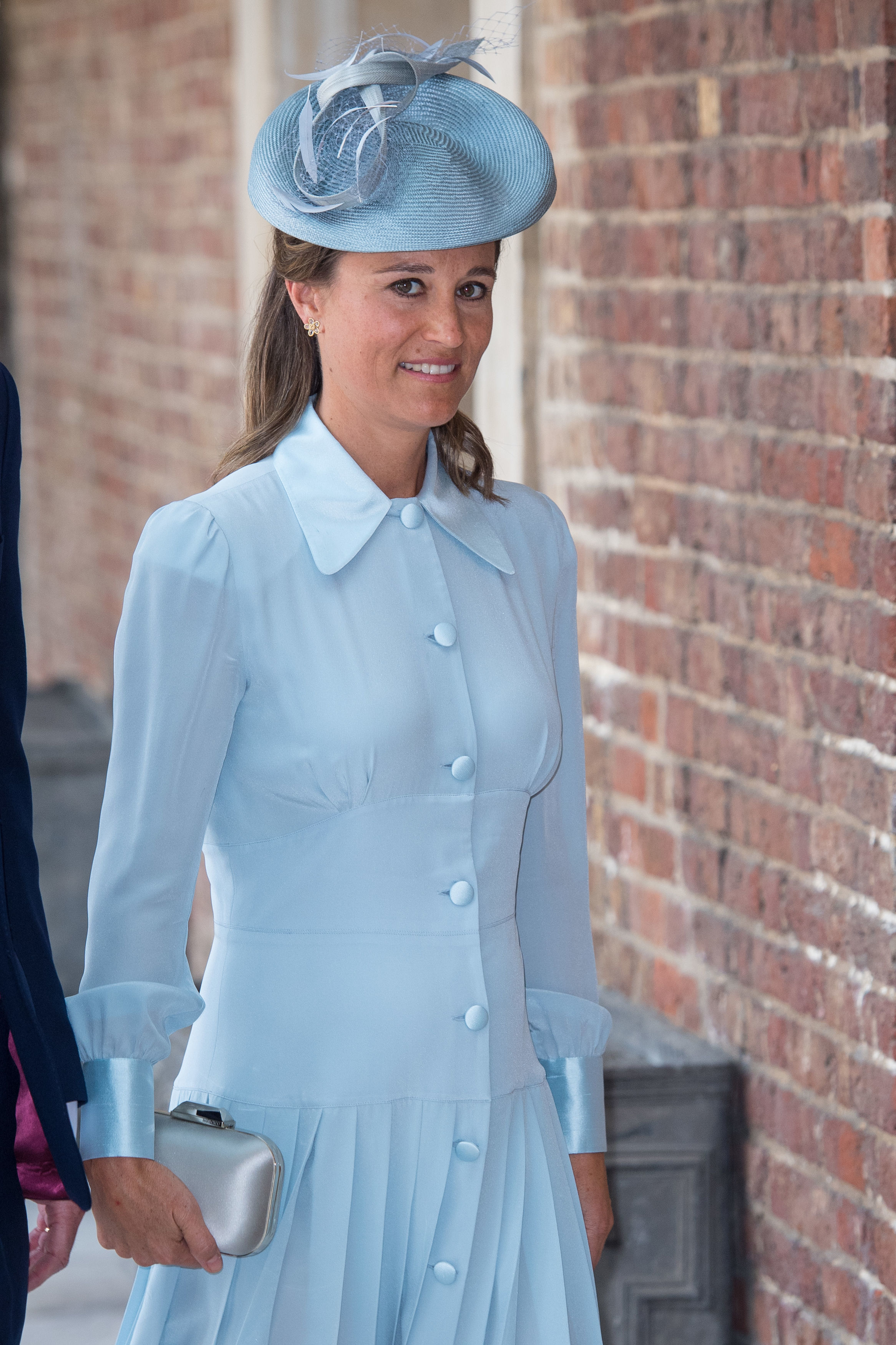 LONDON, ENGLAND - JULY 09: Pippa Middleton, the sister of Britain's Catherine, Duchess of Cambridge, attends the christening of Prince Louis at the Chapel Royal, St James's Palace on July 09, 2018 in London, England. (Photo by Dominic Lipinski - WPA Pool/Getty Images)