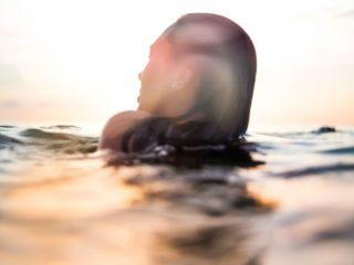 жена, море, плаж