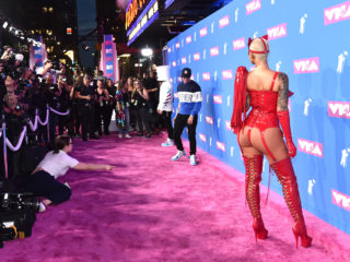 NEW YORK, NY - AUGUST 20: Logic (L) and Amber Rose attend the 2018 MTV Video Music Awards at Radio City Music Hall on August 20, 2018 in New York City.  (Photo by Mike Coppola/Getty Images for MTV)