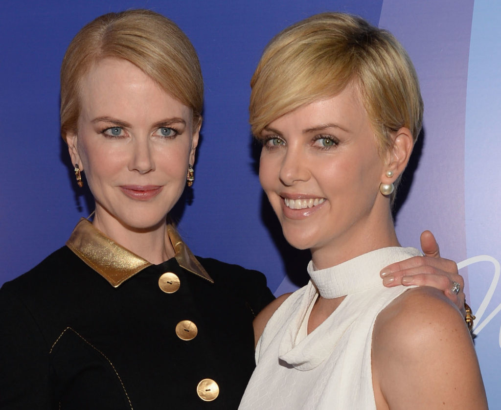 BEVERLY HILLS, CA - OCTOBER 04:  Honorees Nicole Kidman and Charlize Theron attend Variety's 5th Annual Power of Women event presented by Lifetime at the Beverly Wilshire Four Seasons Hotel on October 4, 2013 in Beverly Hills, California.  (Photo by Michael Kovac/Getty Images for Variety)