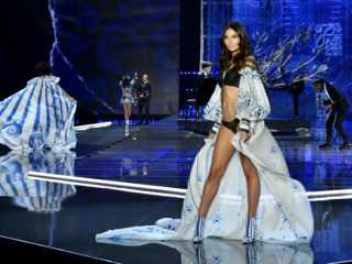 SHANGHAI, CHINA - NOVEMBER 20:  Model Lily Aldridge walks the runway during the 2017 Victoria's Secret Fashion Show In Shanghai at Mercedes-Benz Arena on November 20, 2017 in Shanghai, China.  (Photo by Frazer Harrison/Getty Images for Victoria's Secret)