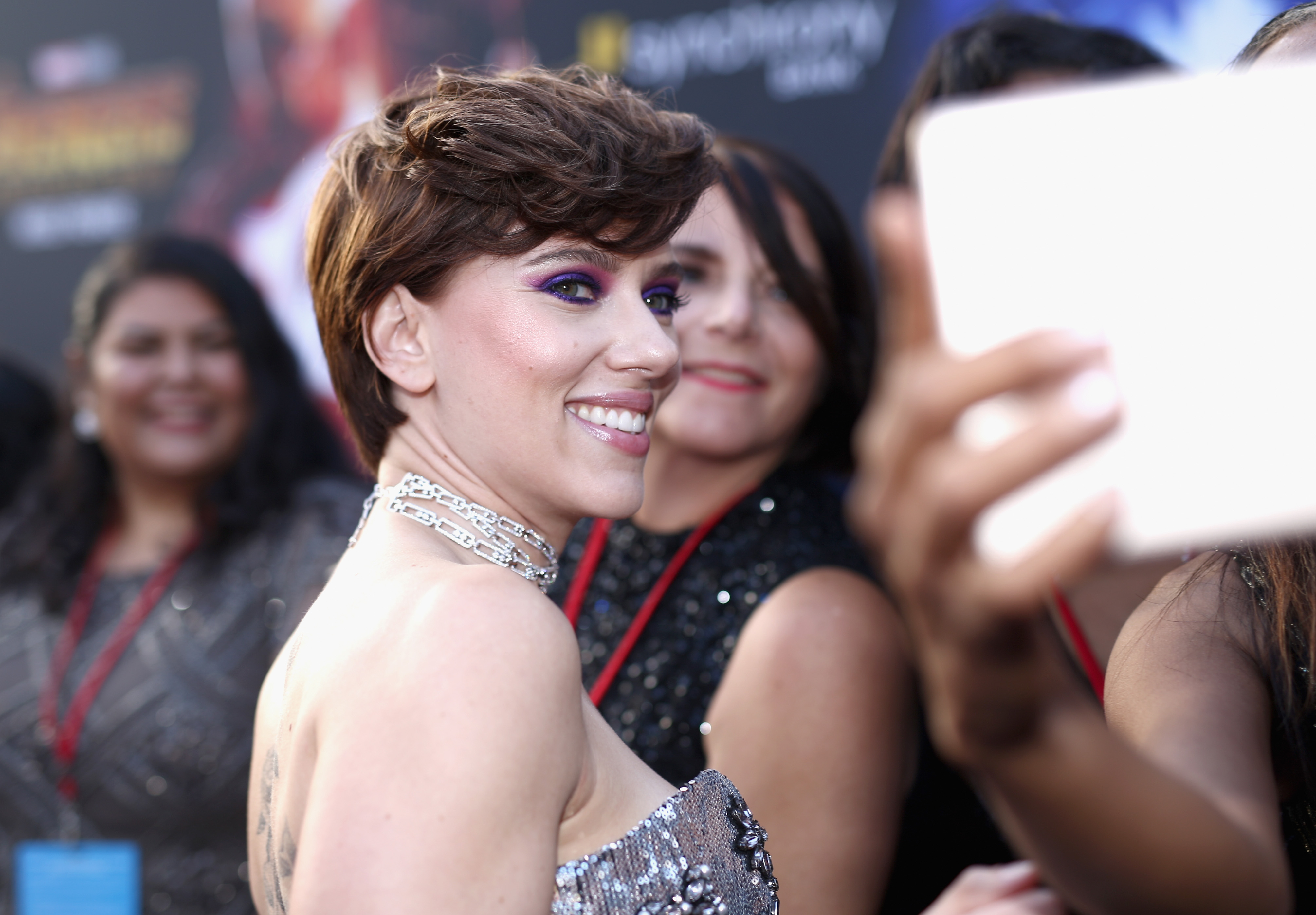 HOLLYWOOD, CA - APRIL 23:  Actor Scarlett Johansson attends the Los Angeles Global Premiere for Marvel Studios? Avengers: Infinity War on April 23, 2018 in Hollywood, California.  (Photo by Rich Polk/Getty Images for Disney)