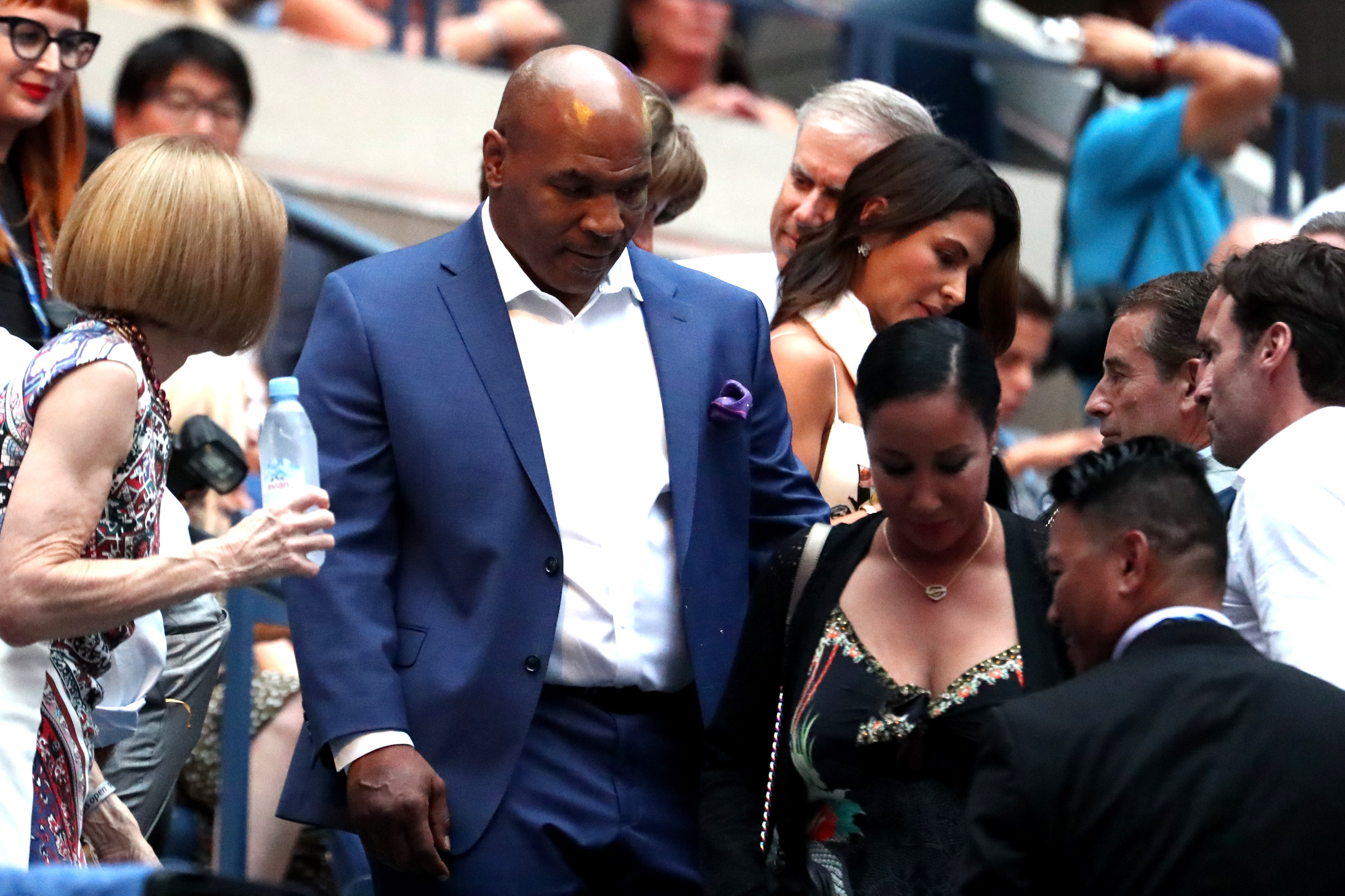 NEW YORK, NY - AUGUST 27: Former professional boxer Mike Tyson attends opening night on Day One of the 2018 US Open at the USTA Billie Jean King National Tennis Center on August 27, 2018 in the Flushing neighborhood of the Queens borough of New York City. (Photo by Al Bello/Getty Images)