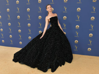 LOS ANGELES, CA - SEPTEMBER 17:  Angela Sarafyan attends the 70th Emmy Awards at Microsoft Theater on September 17, 2018 in Los Angeles, California.  (Photo by Neilson Barnard/Getty Images)