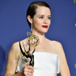 LOS ANGELES, CA - SEPTEMBER 17:  Claire Foy poses in the press room during the 70th Emmy Awards at Microsoft Theater on September 17, 2018 in Los Angeles, California.  (Photo by Frazer Harrison/Getty Images)