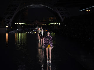 PARIS, FRANCE - SEPTEMBER 25:  Models walk the runway during the Saint Laurent show as part of the Paris Fashion Week Womenswear Spring/Summer 2019 on September 25, 2018 in Paris, France.  (Photo by Pascal Le Segretain/Getty Images)