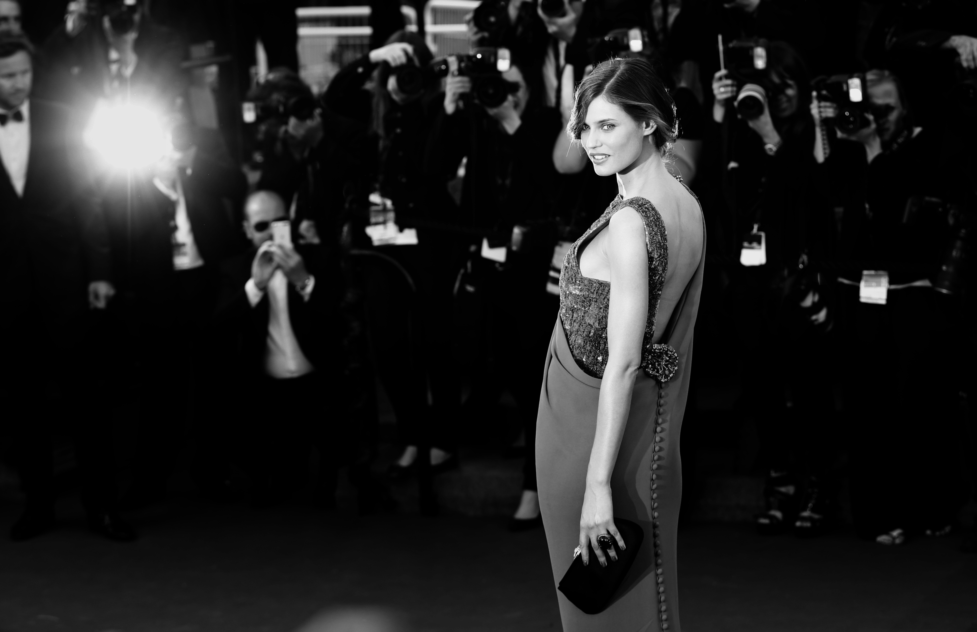 CANNES, FRANCE - MAY 24:  (EDITORS NOTE: This image was processed using digital filters)   Bianca Balti attends 'The Immigrant' Premiere during  the 66th Annual Cannes Film Festival on May 24, 2013 in Cannes, France.  (Photo by Vittorio Zunino Celotto/Getty Images)