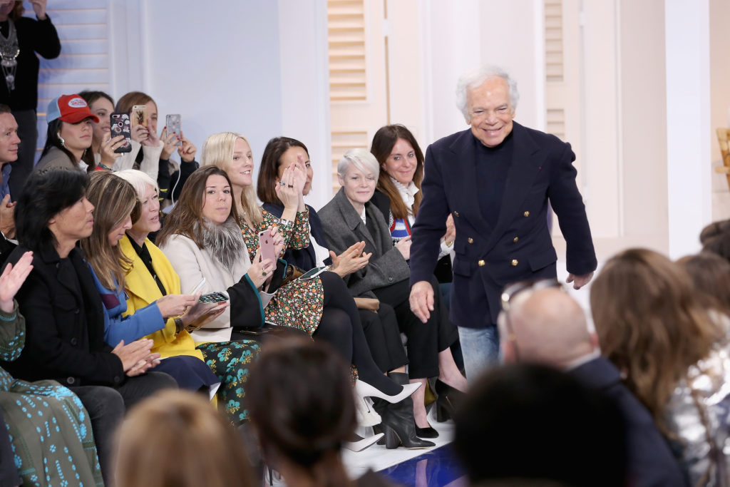 NEW YORK, NY - FEBRUARY 12: Designer Ralph Lauren attends the Ralph Lauren fashion show during New York Fashion Week: The Shows on February 12, 2018 in New York City.  (Photo by Monica Schipper/Getty Images for New York Fashion Week: The Shows)