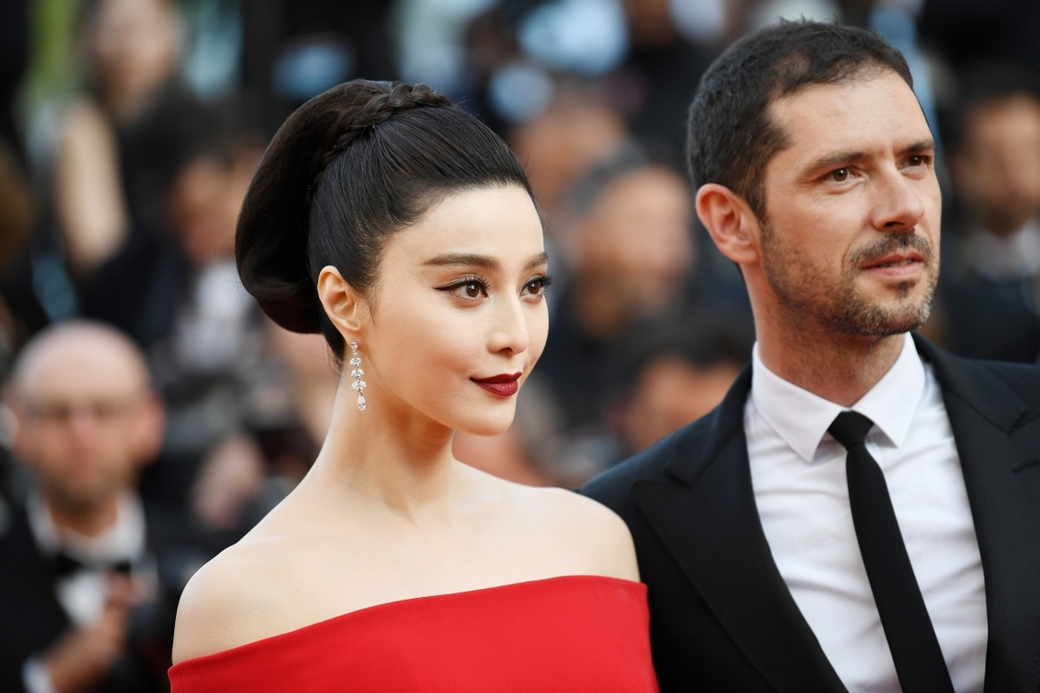 "CANNES, FRANCE - MAY 24:  Fan Bingbing and Melvil Poupaud attend the ""The Beguiled"" screening during the 70th annual Cannes Film Festival at Palais des Festivals on May 24, 2017 in Cannes, France.  (Photo by Pascal Le Segretain/Getty Images)"