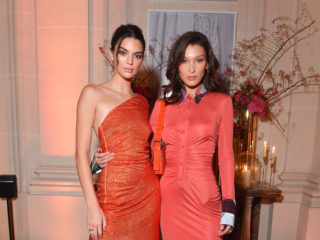 PARIS, FRANCE - SEPTEMBER 26: (L-R) Kendall Jenner and Bella Hadid attend the YouTube cocktail party during Paris Fashion Week on September 26, 2018 in Paris, France.  (Photo by Victor Boyko/Getty Images for YouTube)